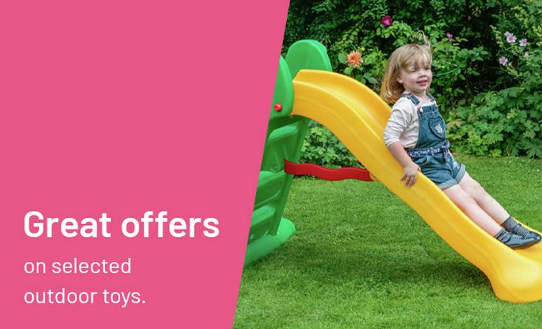 Great offers on selected outdoor toys.