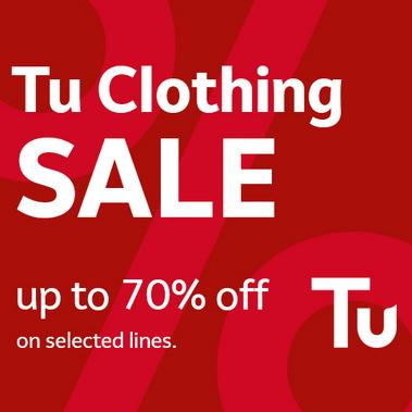 Save up to 70% on Tu clothing.