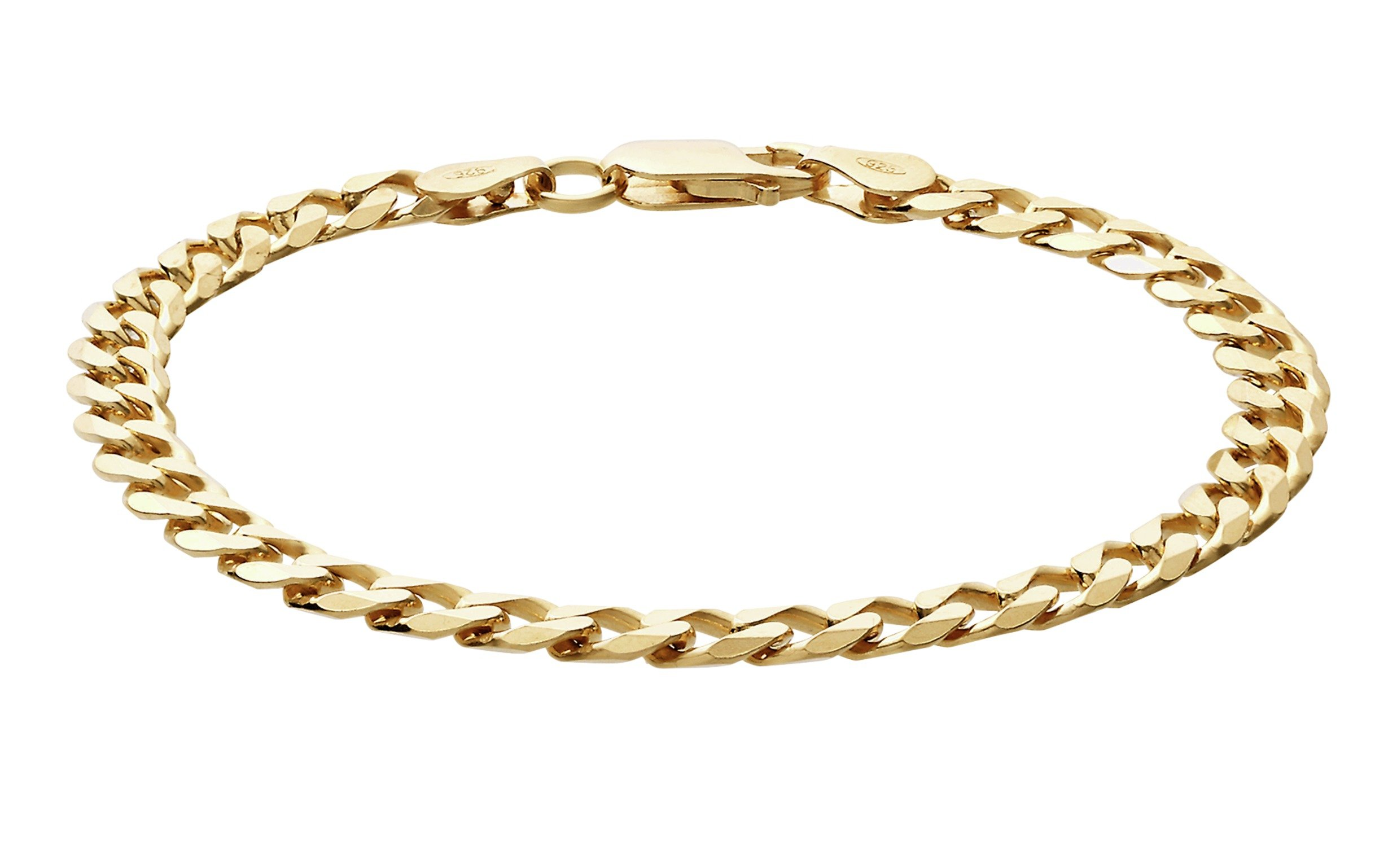 Revere 9ct Yellow Gold Solid Curb Bracelet