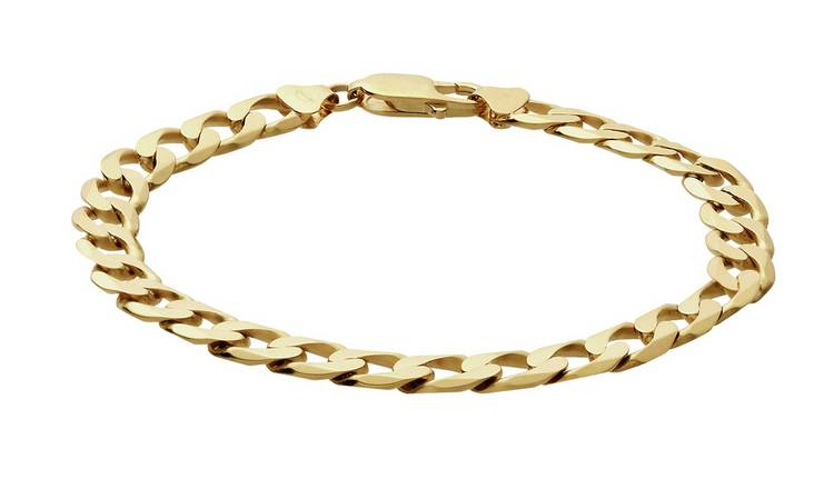 Revere 9ct Gold Solid Curb Bracelet