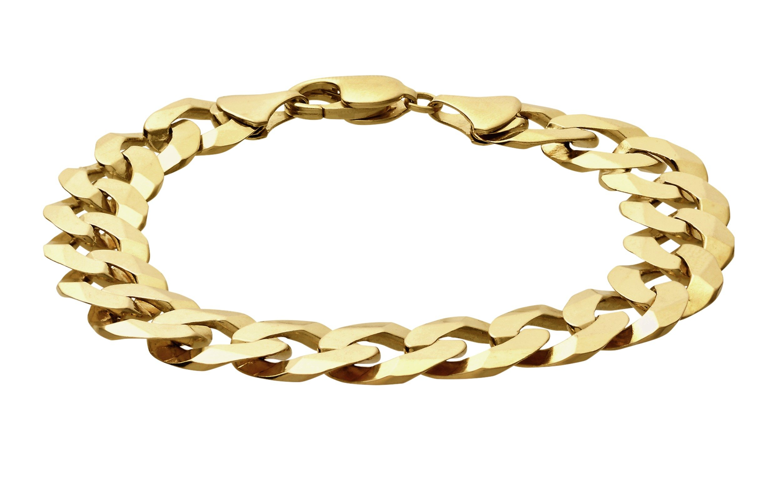 Revere 9ct Gold Solid Curb 8.5 Inch Bracelet
