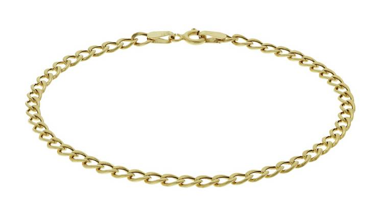 Revere 9ct Yellow Gold Hollow Curb Bracelet