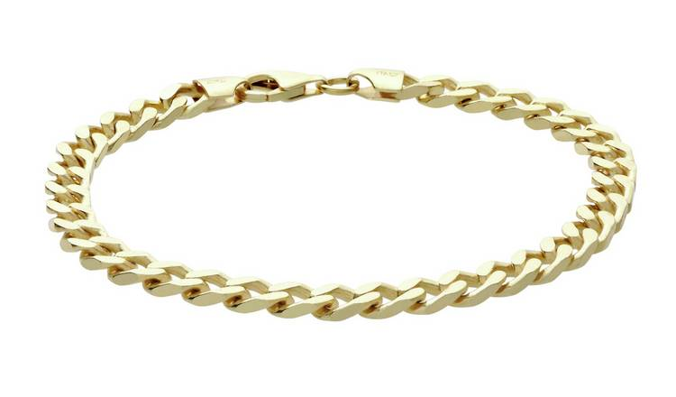 Buy Revere 9ct Gold Plated Sterling Silver Solid Curb