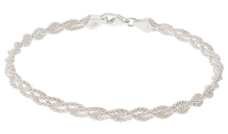 Revere Italian Sterling Silver Three Strand Braid Bracelet