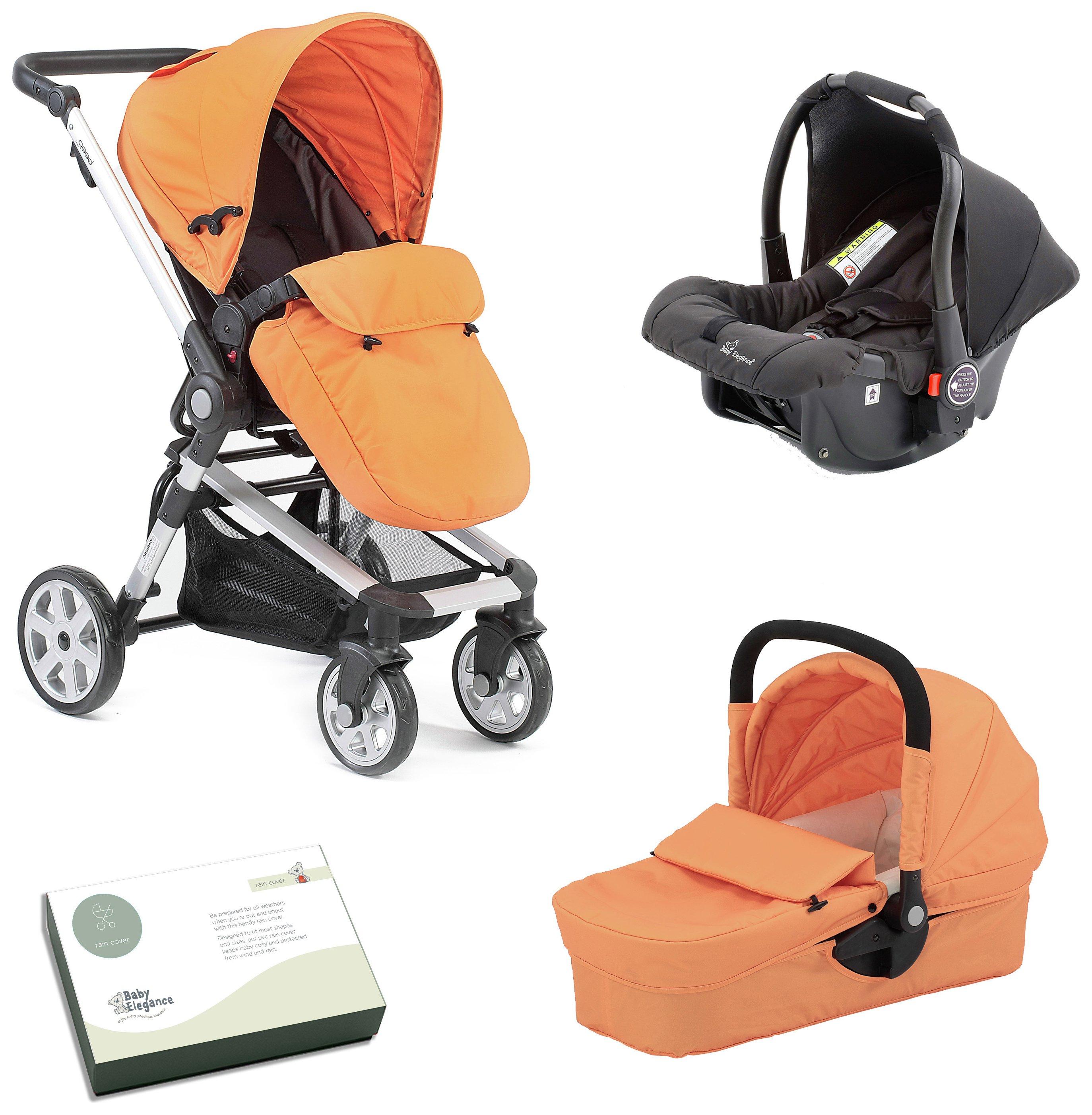 Image of Baby Elegance Beep Twist Travel System - Orange.