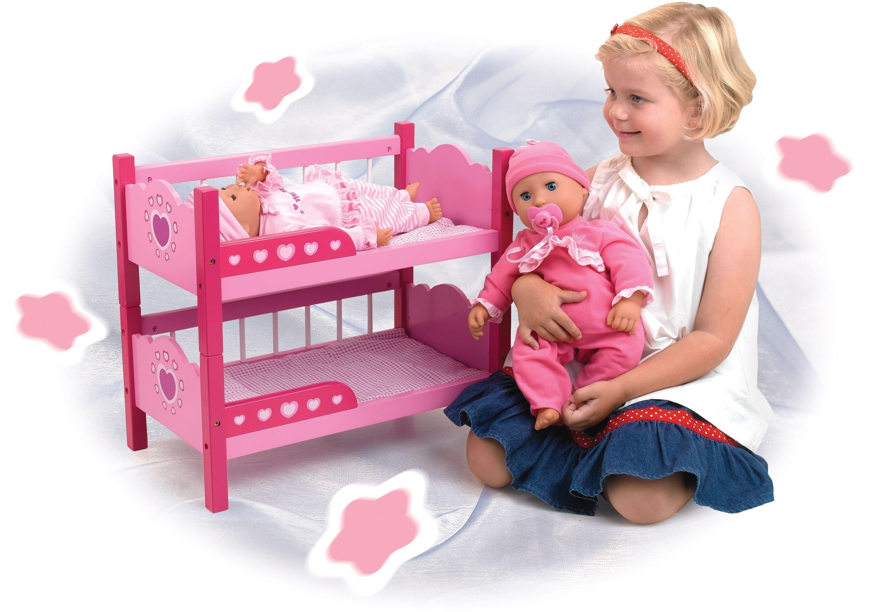 Image of Dollsworld Wooden Bunk Beds.