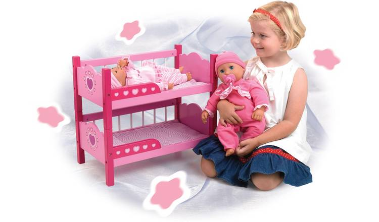 Dollsworld Wooden Bunk Beds.