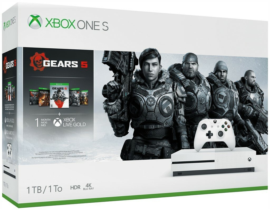 Xbox One S 1TB Console & Gears 5 Bundle Pre-Order