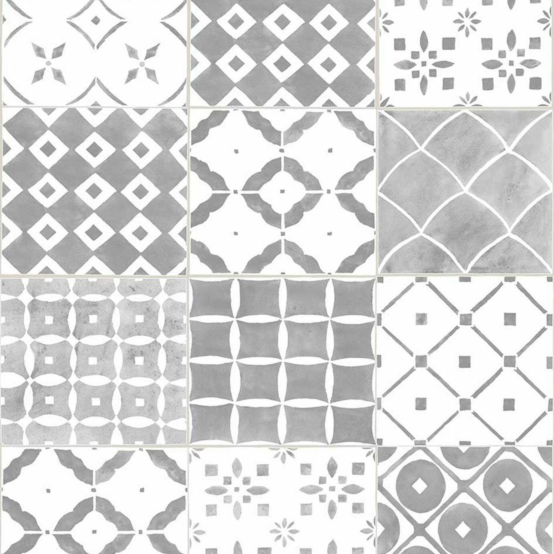 Contour Porches Grey Tile Wallpaper