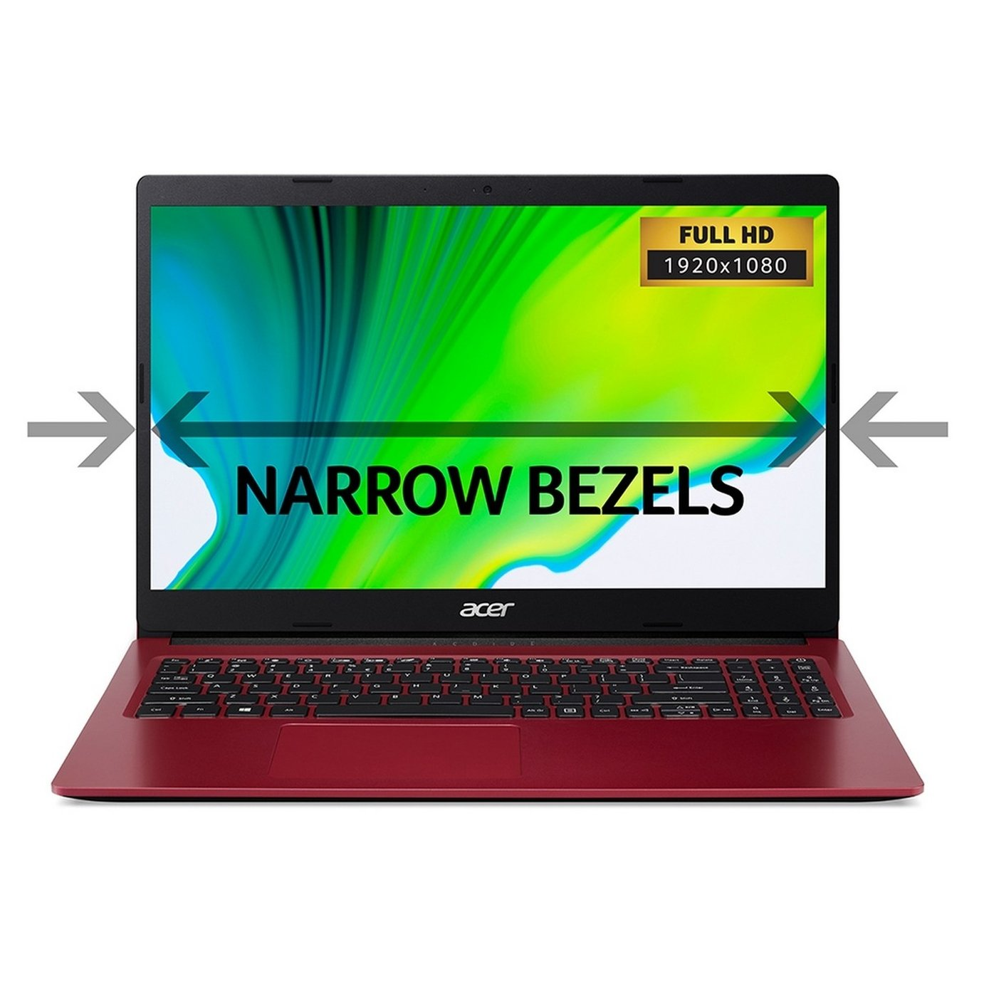 Acer Aspire 3 15.6 Inch A4 4GB 1TB FHD Laptop - Red