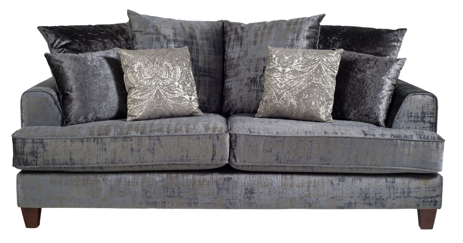 Argos Home Beaumont 2 Seater Fabric Sofa - Charcoal
