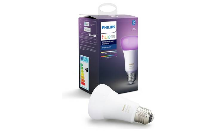 Philips Hue E27 Colour Ambiance Smart Bulb with Bluetooth
