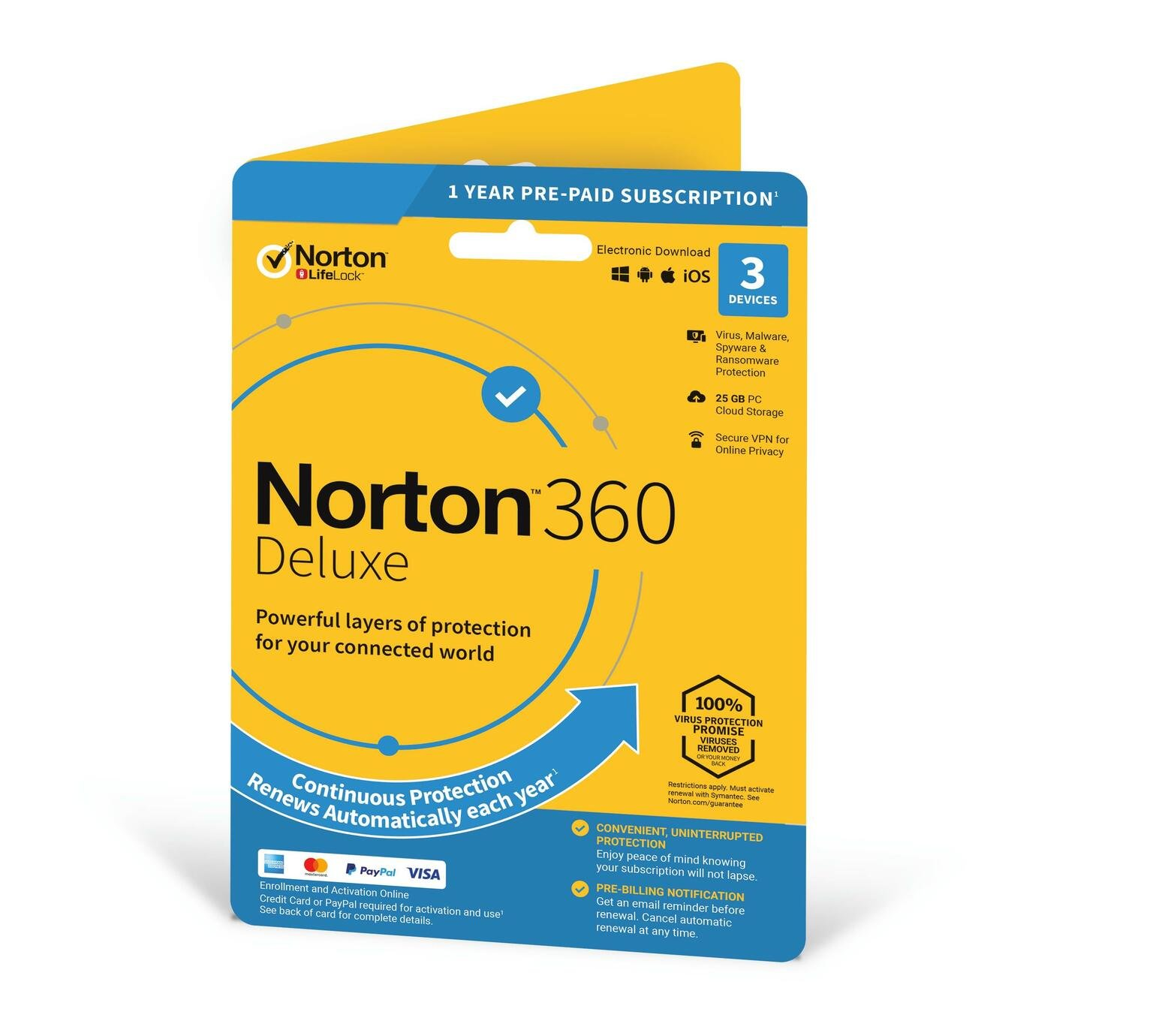 Norton N360 Deluxe Internet Security - 3 Devices