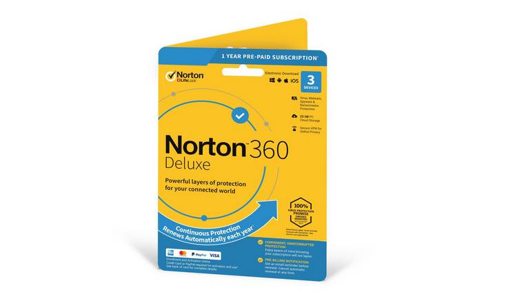 Norton 360 Deluxe - 3 Devices - 1 Year