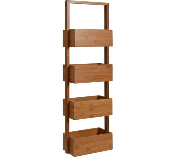 Collection Freestanding Bamboo Bathroom Storage Caddy