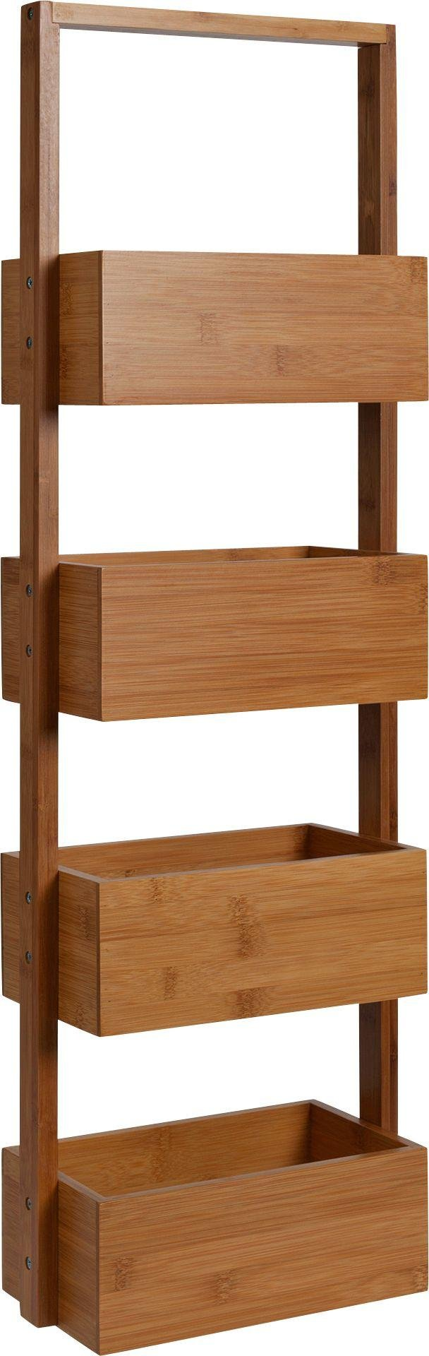 Buy Collection Freestanding Bamboo Bathroom Storage Caddy ...