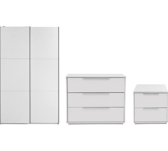 hygena bergen 3 piece small wardrobe package white - Small Wardrobe