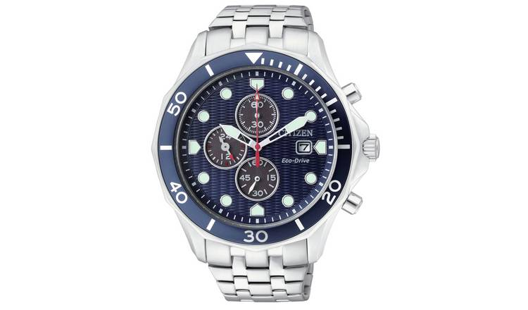 Citizen Men's Eco-Drive Chronograph Stainless Steel Watch