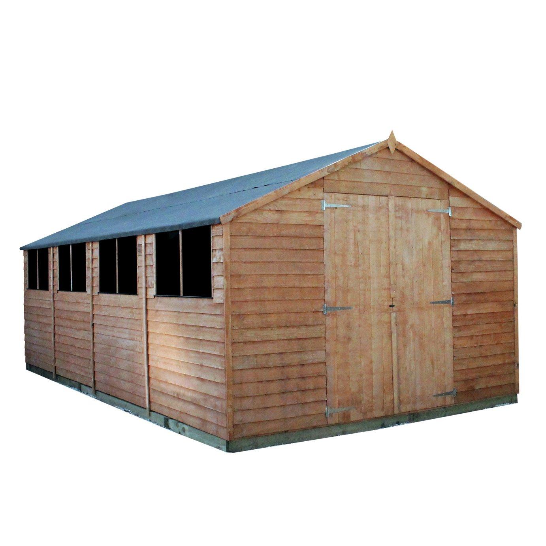 Mercia Wooden 10 x 20ft Overlap Workshop Shed