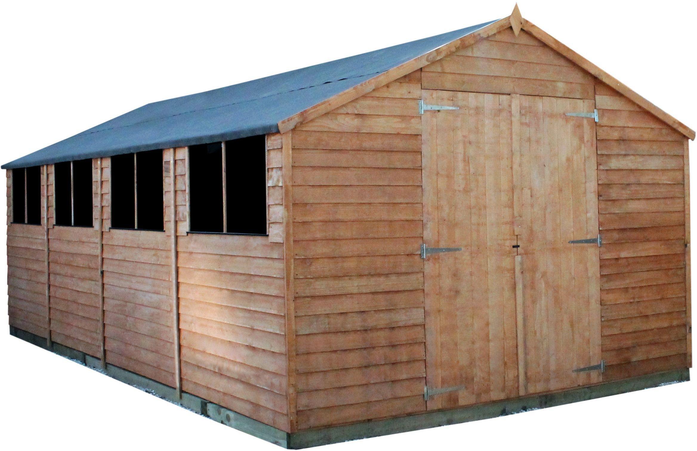 Mercia Overlap Wooden Workshop Shed - 20 x 10ft