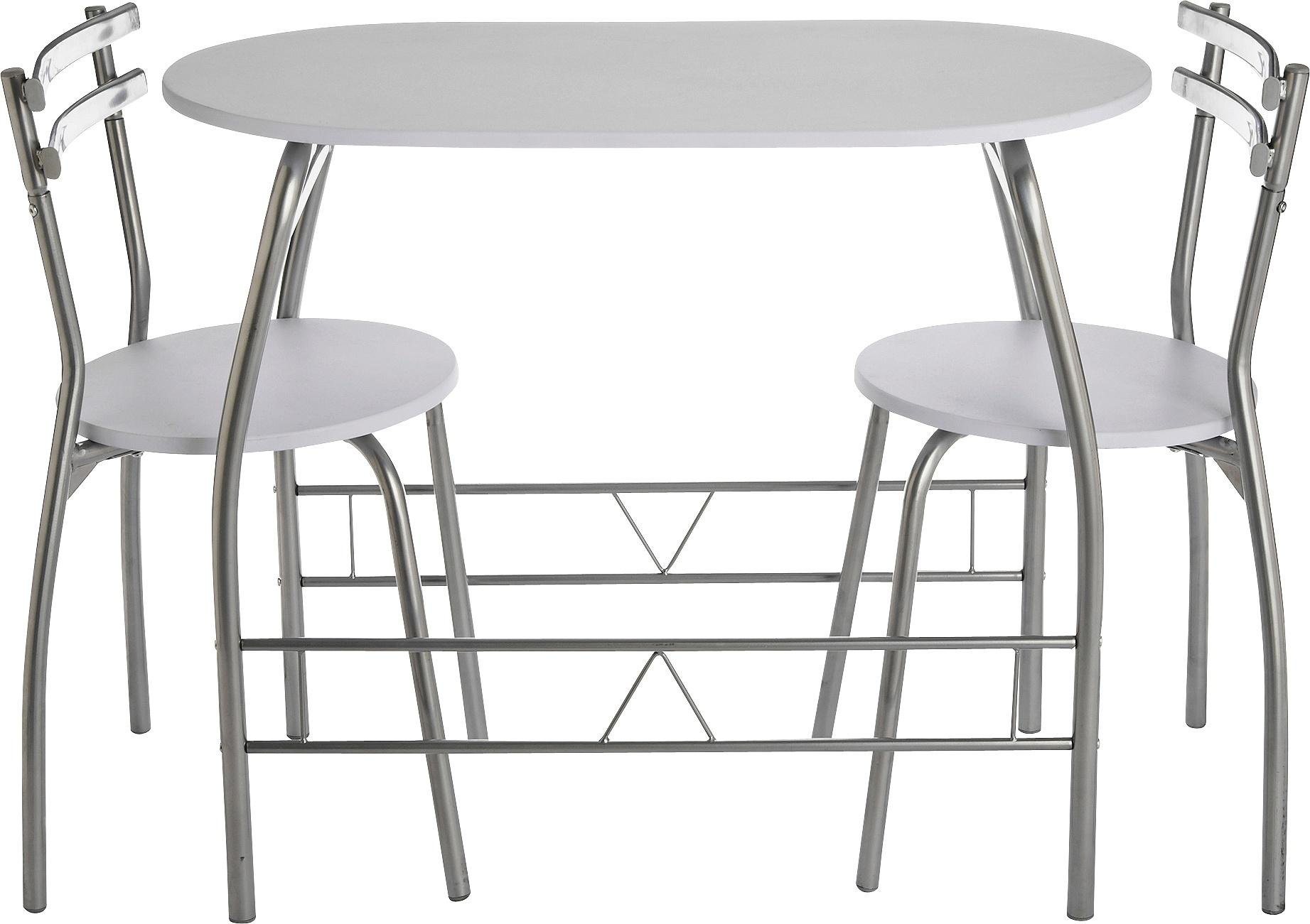Buy HOME Vegas Dining Table   Chairs - White at Argos.uk