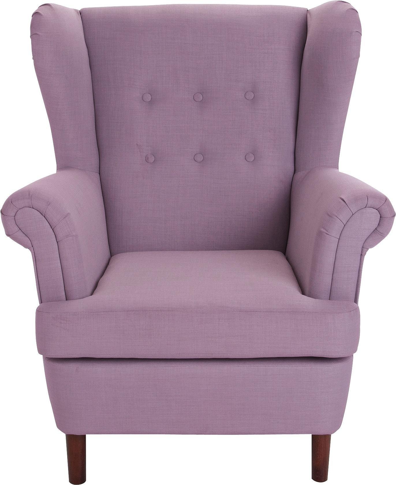 Argos Home Martha Fabric Wingback Chair - Lilac