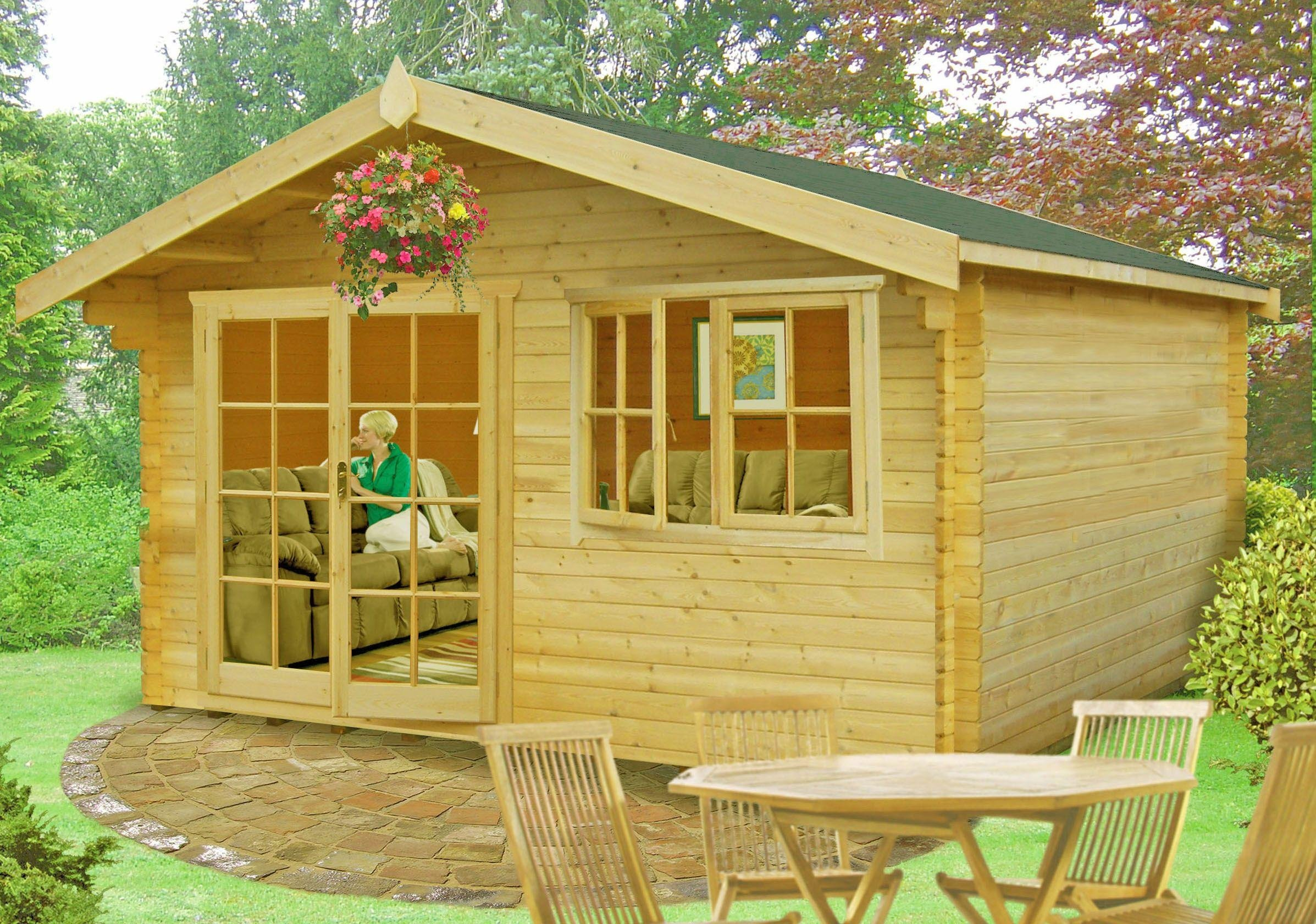 Image of Homewood Abbeyford Wooden Cabin - 12 x 14ft.