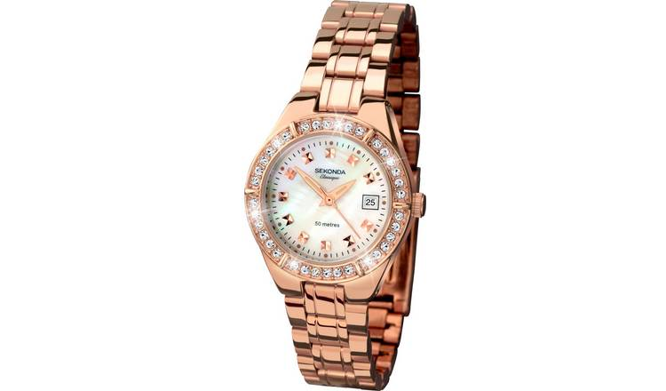 0ba9088f733 Buy Sekonda Classique Ladies  Rose Gold Plated Stone Set Watch ...