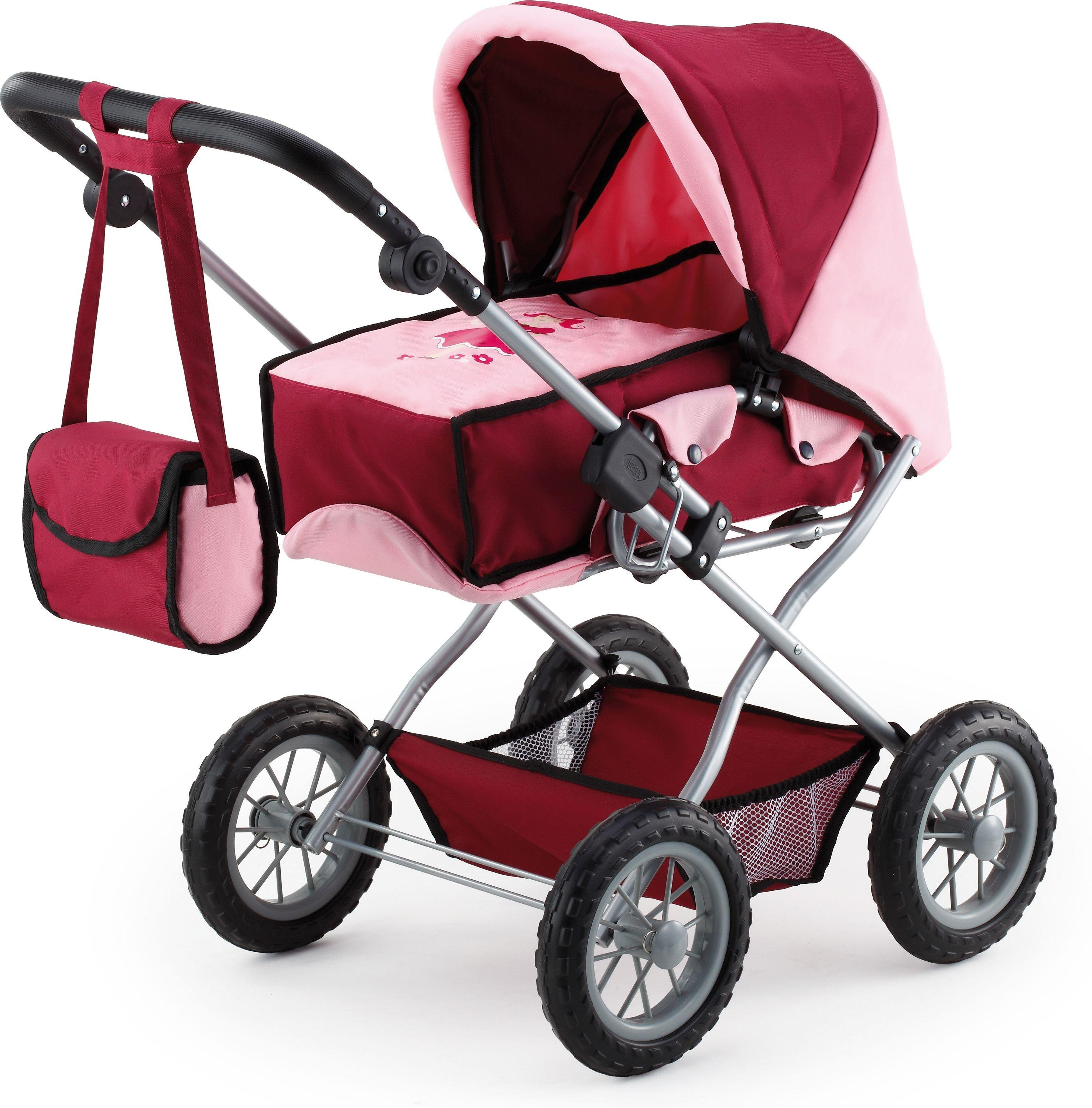 Image of Bayer - Combi Grande Doll's Pram - Bordeaux