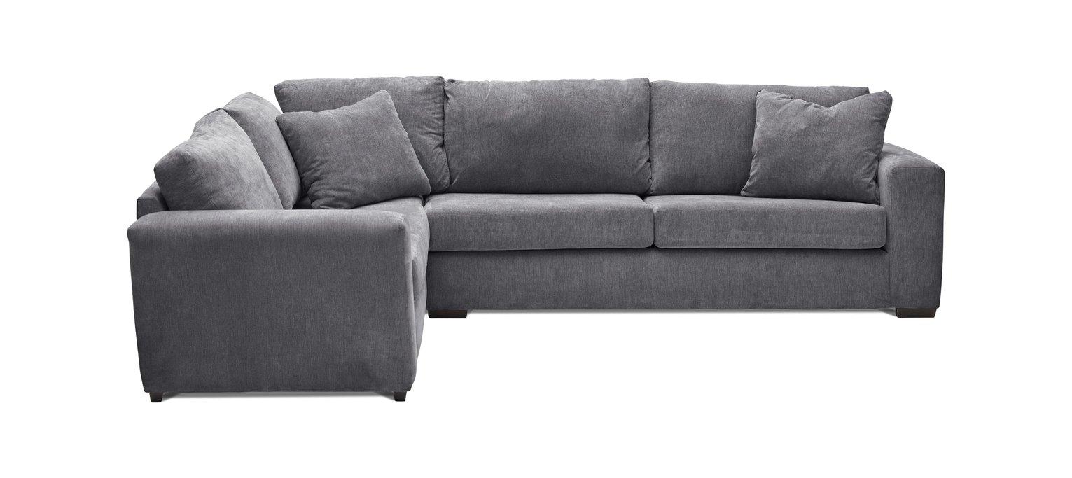 Argos Home Eton Fabric Left Hand Corner Sofa - Charcoal