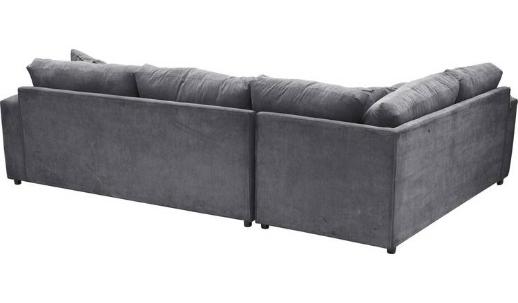 Habitat Eton Left Corner Fabric Sofa - Charcoal