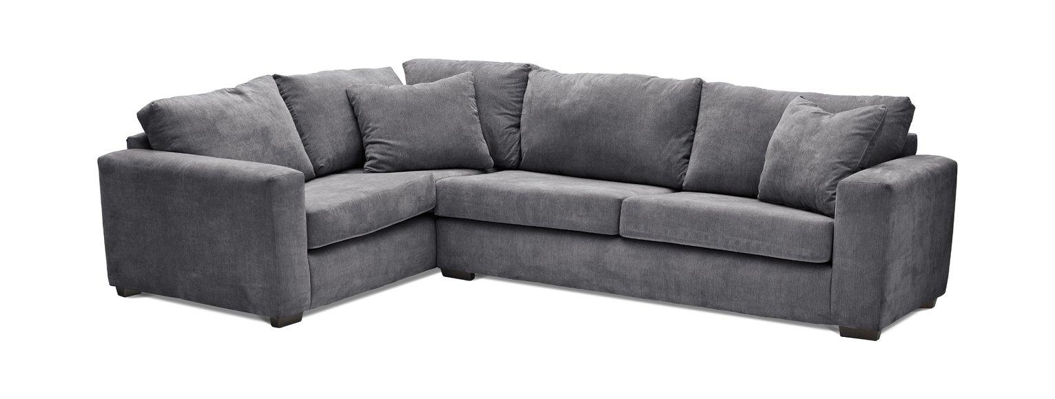 Argos Home Eton Left Corner Fabric Sofa - Charcoal