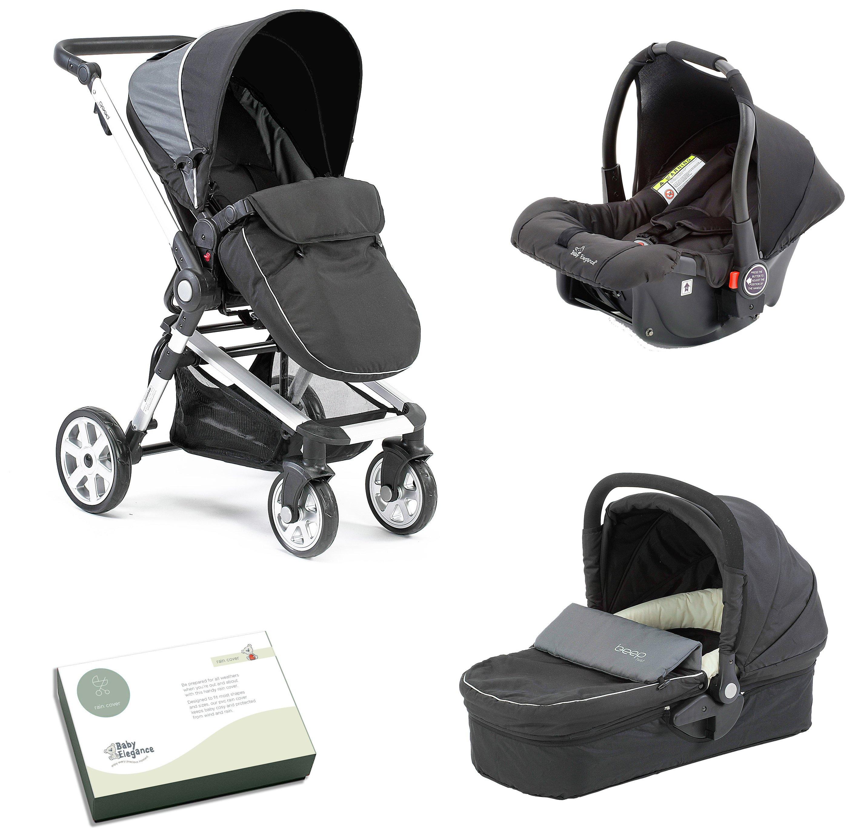 Image of Baby Elegance Beep Twist Travel System - Black.