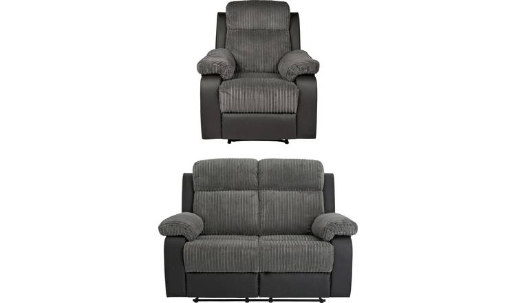 Buy Argos Home Bradley Chair & 2 Seater Recliner Sofa - Charcoal | Sofa  sets | Argos