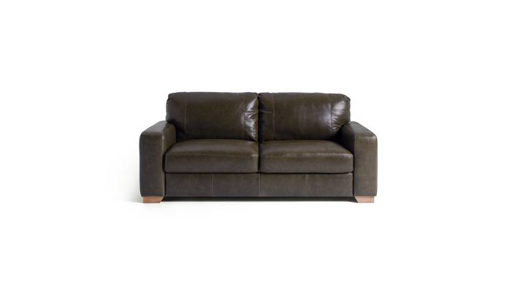 Buy Argos Home Eton 3 Seater Leather Sofa - Dark Brown | Sofas | Argos