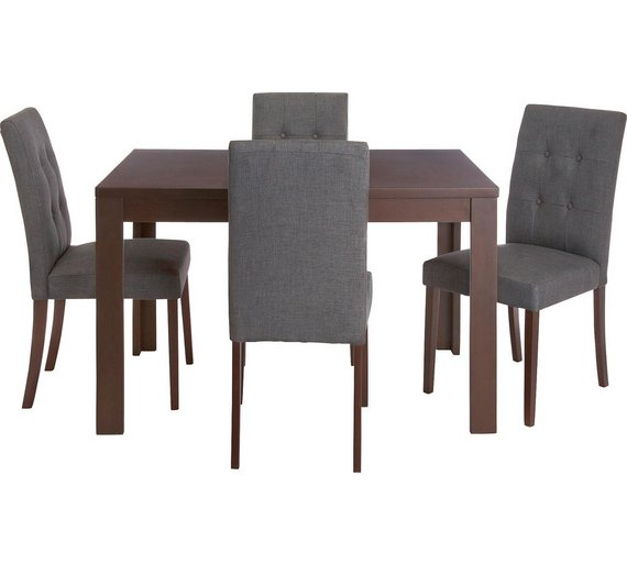 Collection Adaline Ext Oak Vnr Table   4 Chairs   CharcoalBuy Collection Adaline Ext Oak Vnr Table   4 Chairs   Charcoal at  . Adaline Walnut Extendable Dining Table And 6 Chairs. Home Design Ideas