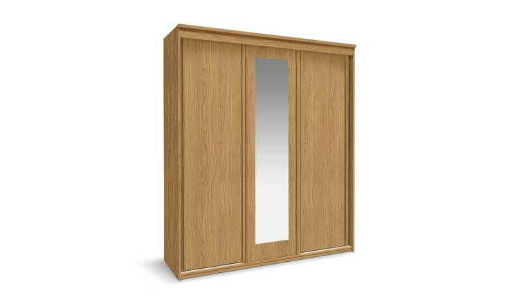 Buy Argos Home Hallingford 3 Door Sliding Wardrobe - Oak Effect | Wardrobes  | Argos