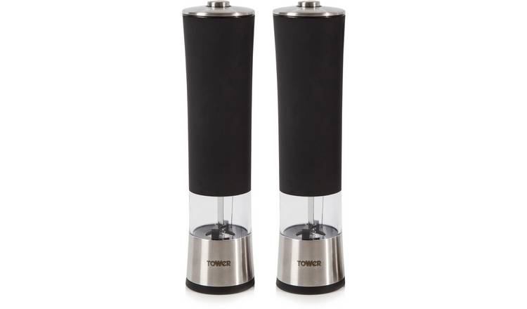 Tower Electric Salt and Pepper Mill Twin Pack.