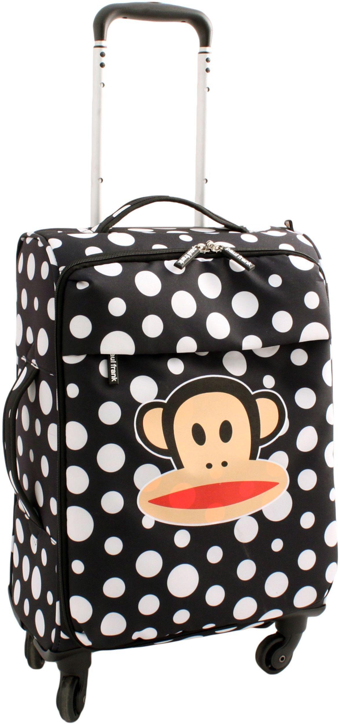 'Paul Frank Julius Monkey Large 4 Wheel Suitcase - Black