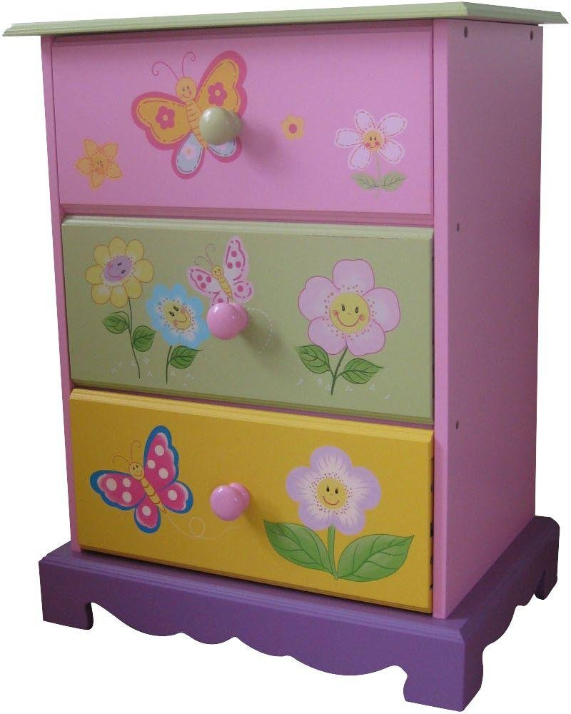 Liberty House Toys Kids Butterfly Garden 3 Drawer Chest