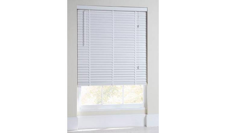 Argos Home Elliott 50mm Wooden Tape Venetian Blind - White