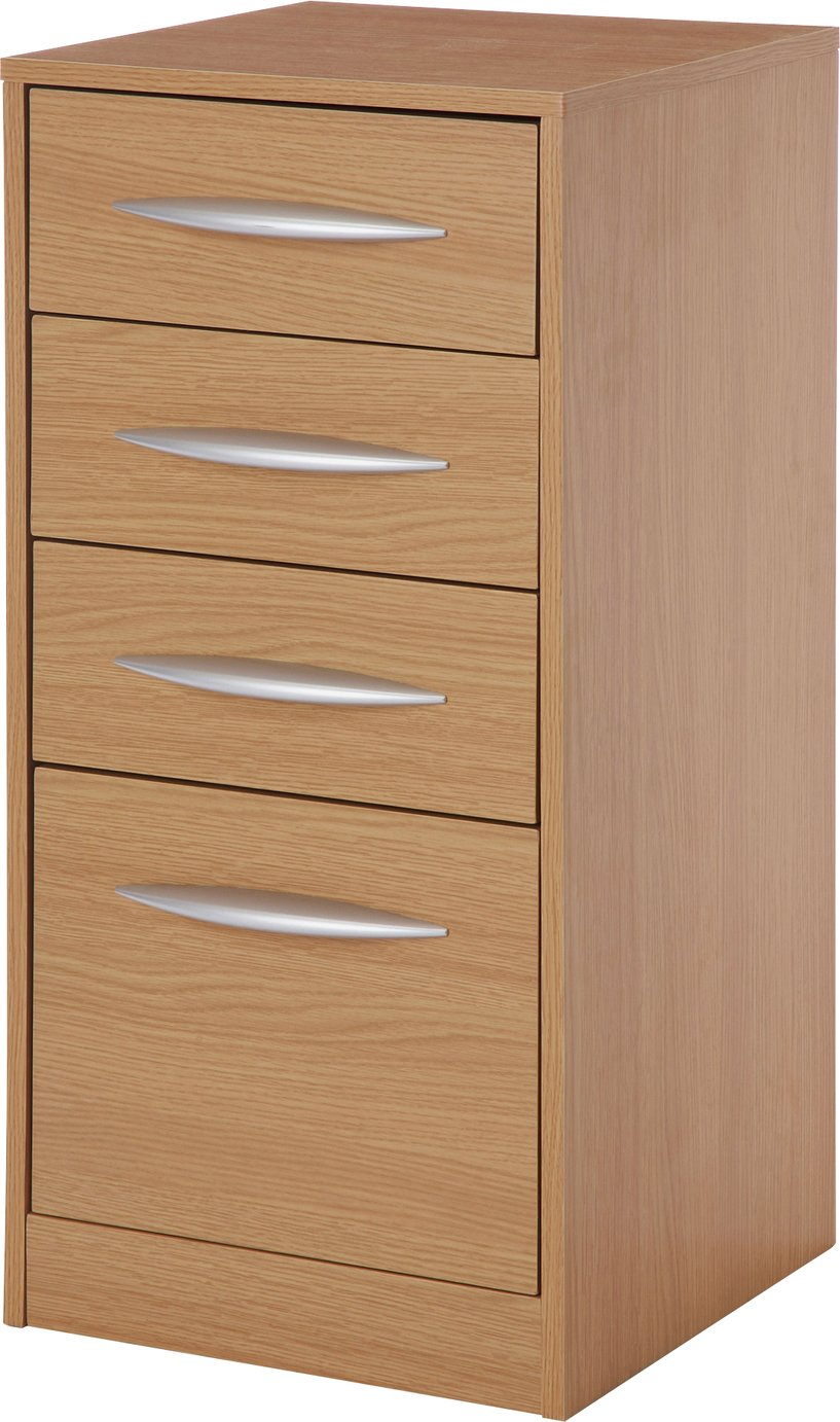 Buy HOME 4 Drawer Filing Cabinet Oak Effect at Argoscouk Your