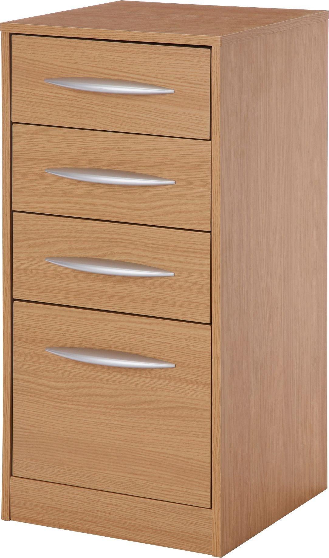 HOME 4 Drawer Filing Cabinet   Oak Effect