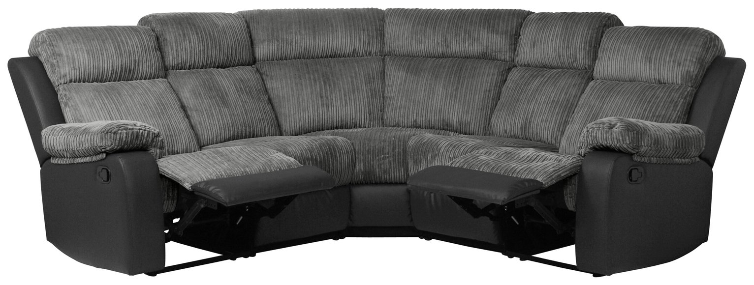 Collection Bradley Dual Face Recline Corner Sofa - Charcoal
