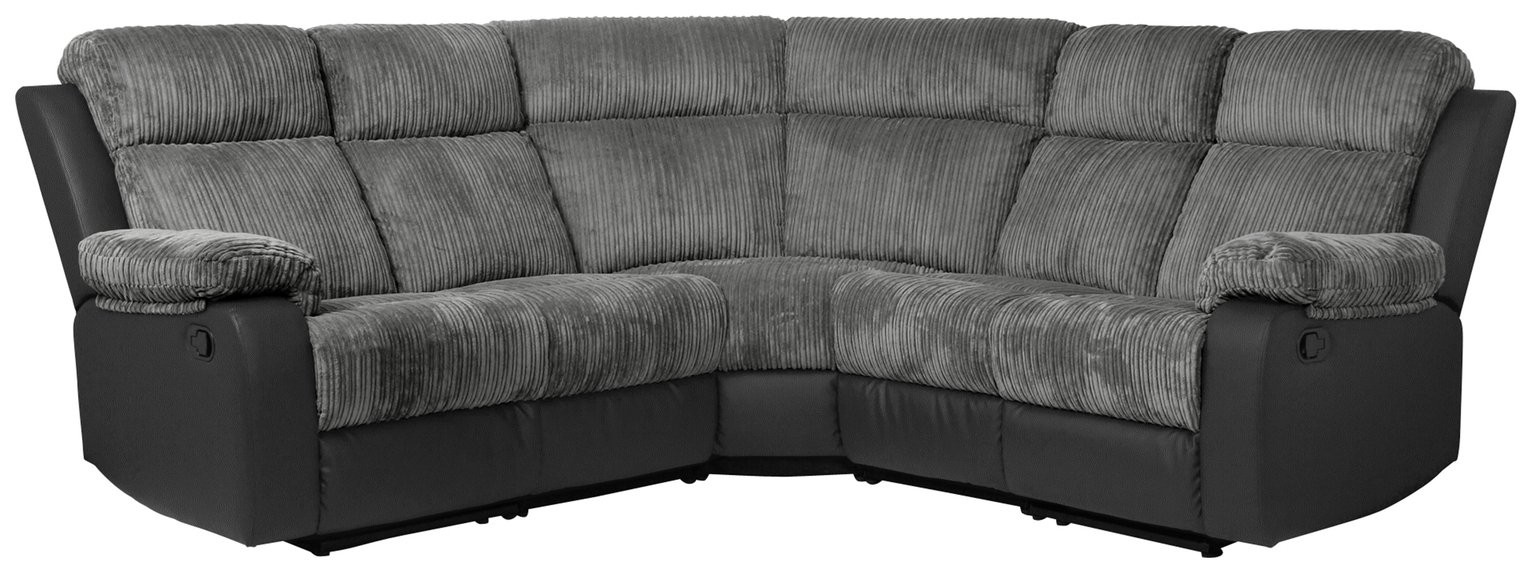 Argos Home Bradley Corner Fabric Recliner Sofa - Charcoal