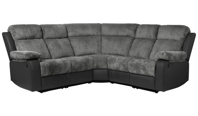Buy Argos Home Bradley Corner Fabric Recliner Sofa - Charcoal | Sofas |  Argos