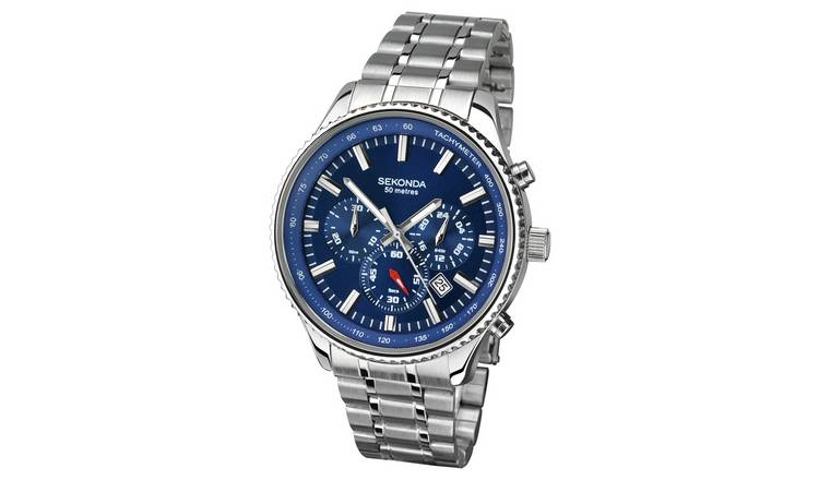 Sekonda Men's Silver Stainless Steel Bracelet Watch