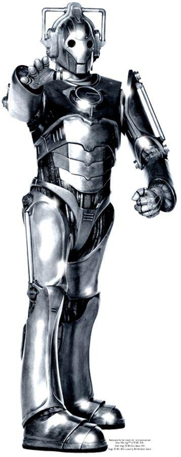 Image of Doctor Who Cyberman Life-Sized Cutout.