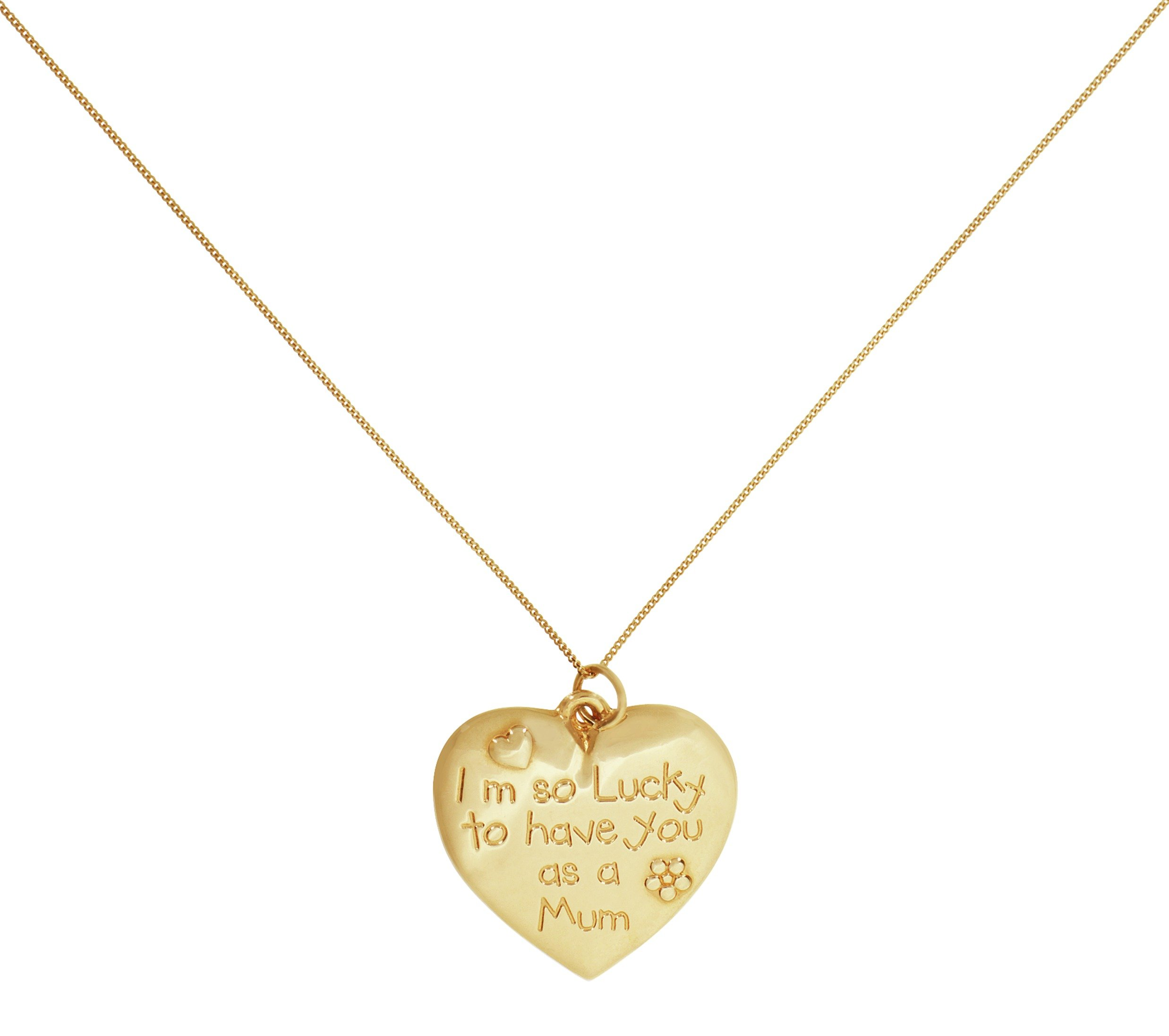 Image of 9 Carat Gold - Mum 'From the Heart' Pendant.