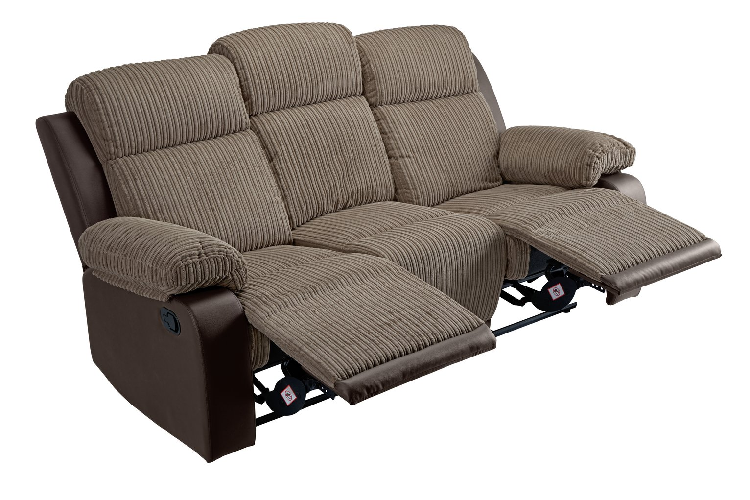 Collection Bradley 3 Seater Manual Recliner Sofa - Natural